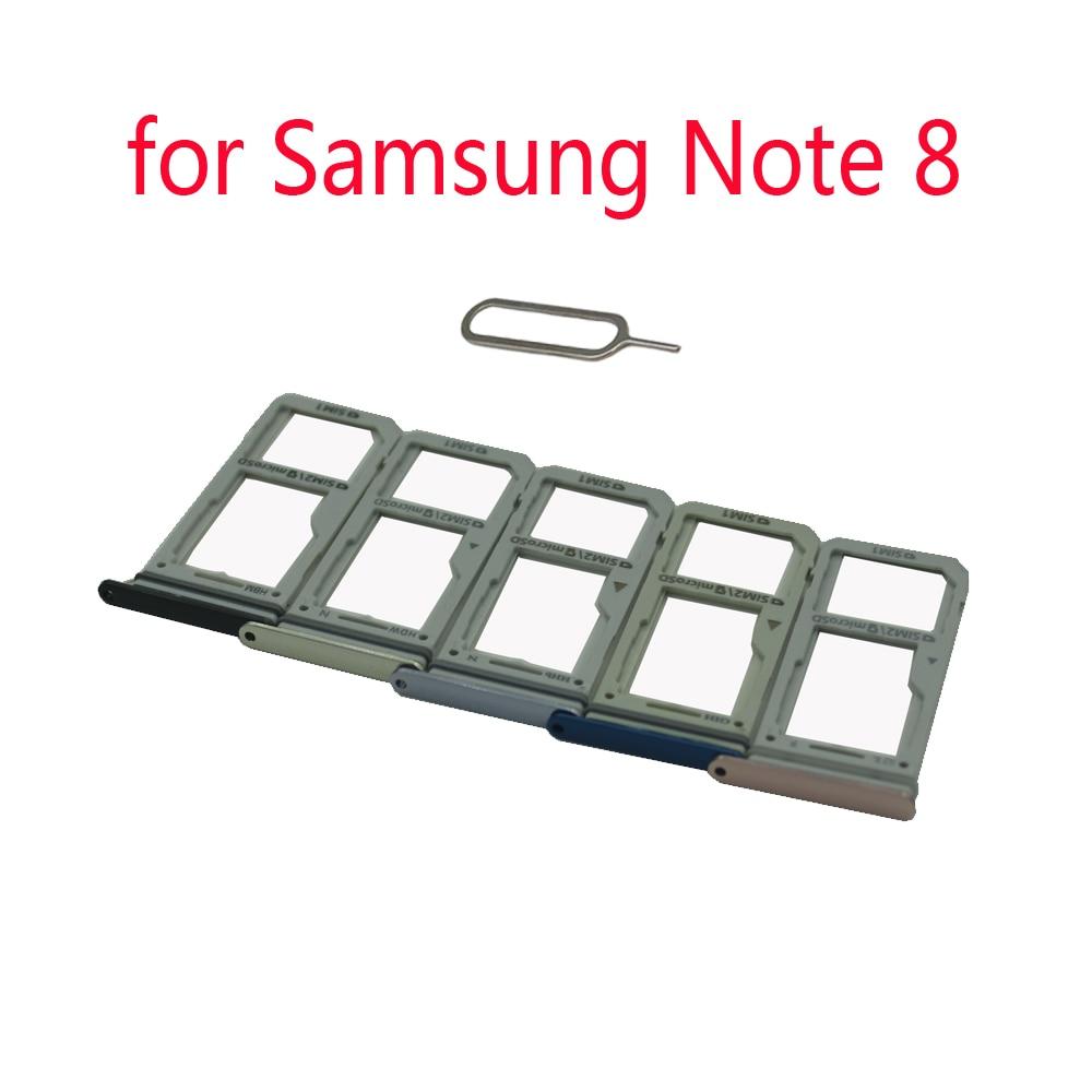Sim Tray Adapter For Samsung Galaxy Note 8 N950 N950F N950N N950U N950W N950X Original Phone Housing SIM Micro SD Card Holder