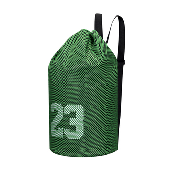 Soccer storage mesh bag Basketball sports bags football volleyball fitness bucket bag outdoor basketball backpack for women image