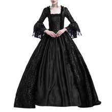 18th века платья в средневековом стиле в готическом стиле, стиле ренессанс кружевное платье маскарадный костюм бальное платье Хэллоуин Косплэй Gotico Vestido