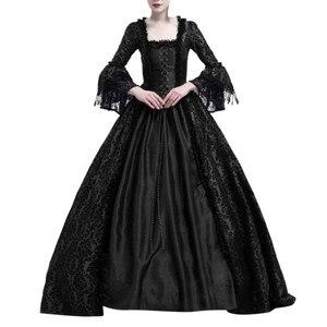 Женское платье с кружевом, бальное платье для маскарада, костюм для Хэллоуина