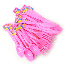 30pc Ariel/Snow White/Belle/Cinderella/Jasmine/Aurora Princess Knife Fork Spoon Tableware Birthday Party Supplies