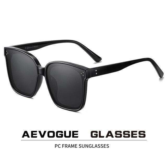 AEVOGUE Neue Frauen Mode Polarisierte Sonnenbrille Transparent Platz Retro Outdoor Sonnenbrille Vintage Oculos Unisex UV400 AE0849