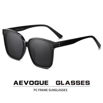 AEVOGUE New Women Fashion Polarized Sunglasses Transparent Square Retro Outdoor Sun Glasses Vintage Oculos Unisex UV400 AE0849