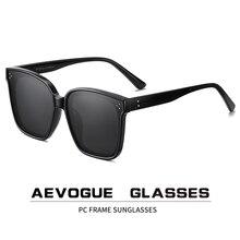 AEVOGUE yeni kadın moda polarize güneş gözlüğü şeffaf kare Retro açık güneş gözlüğü Vintage Oculos Unisex UV400 AE0849