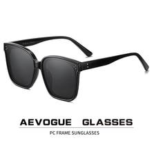AEVOGUE חדש נשים אופנה מקוטב משקפי שמש שקוף כיכר רטרו חיצוני שמש משקפיים וינטג Oculos יוניסקס UV400 AE0849