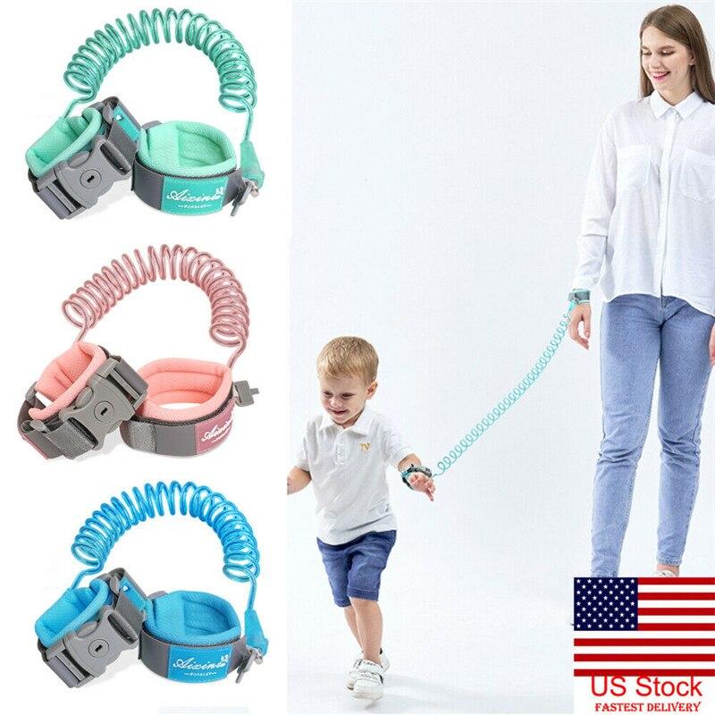 Kids Anti Lost Wrist Link Toddler Leash Safety Harness Children Strap Rope Outdoor Walking Hand Belt Band Baby Walker