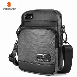 ARCTIC HUNTER 2020 New Travel Retro Men Shoulder Bags Male Waterproof Crossbody Bag Multifunction Light Mini Short Trip Bags