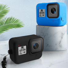 Soft Silicone Body Case For Gopro Hero 8 Case Black Blue Protective Full Cover Shell For Gopro Hero 8 Action Camera Accessories