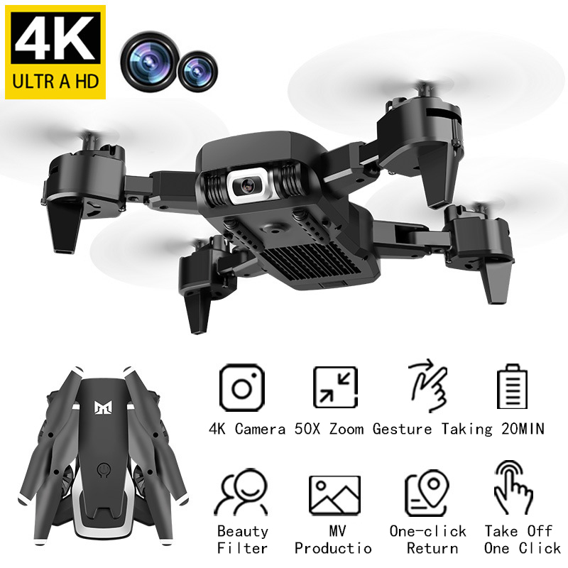 <font><b>4k</b></font> Dual Camera <font><b>Drone</b></font> <font><b>Drones</b></font> with Camera Hd Quadcopter Fold Long Endurance Remote Control Aircraft Toy Toys for Boys <font><b>Drones</b></font> image