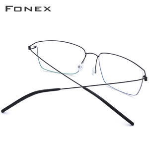 Image 3 - FONEX Titanium Alloy Optical Prescription Glasses New Women Myopia Eyeglasses Frame Men Ultralight Screwless Eyewear 98624