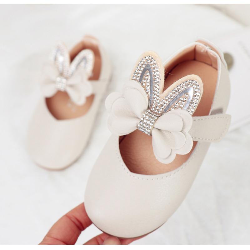 meninas sapatos borboleta no plana bebe strass 04