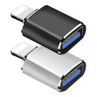 Adaptador USB OTG negro para IPhone, convertidor de iluminación a USB 3,0, para IPhone 12, 11 Pro, XS, Max, XR, X, 8, 7, 6s Plus, IPad