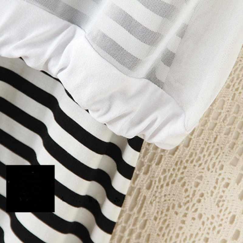 Moda verão 2 pçs conjunto feminino listrado sem mangas vestido de manga curta cobrir roupas casuais feminino comprimento da panturrilha vestidos conjuntos terno