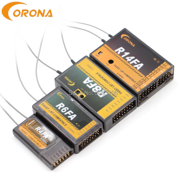 Corona R4FA R6FA F8FA R14FA 2.4Ghz FUTABA T8FG 12FG 14SG 16SZ 18MZ Fasst Compatible Receiver  For RC Fixed wing aircraft
