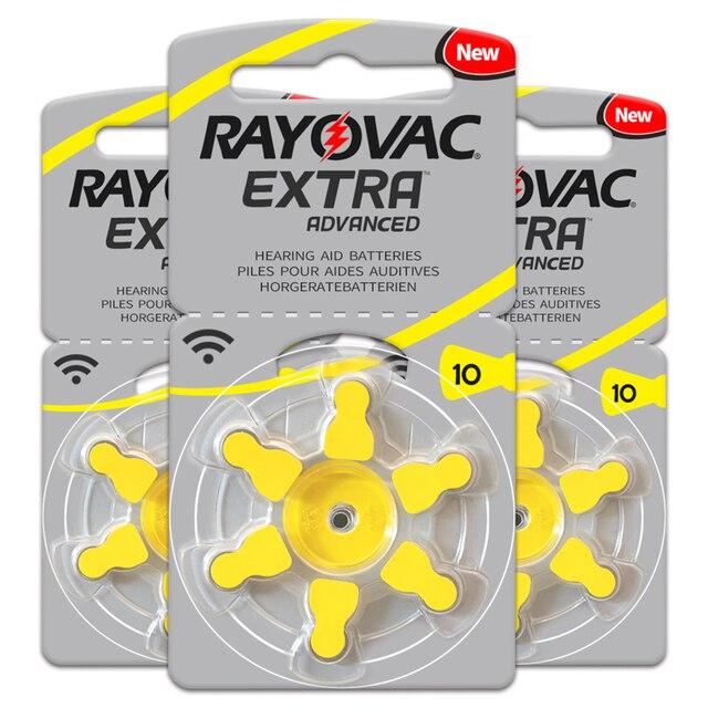 Аккумуляторы для слухового аппарата, 60 шт./1 коробка, RAYOVAC EXTRA A10/PR70/PR536, Цинковый воздушный аккумулятор 1,45 в, Размер 10, диаметр 5,8 мм, толщина 3,6 мм