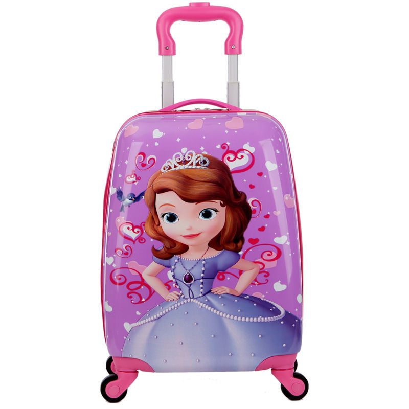 Carry-on Suitcase With Wheels Kids Spinner Luggage Carton Travel Rolling Luggage Trolley Bags Girls School Backpack Bag