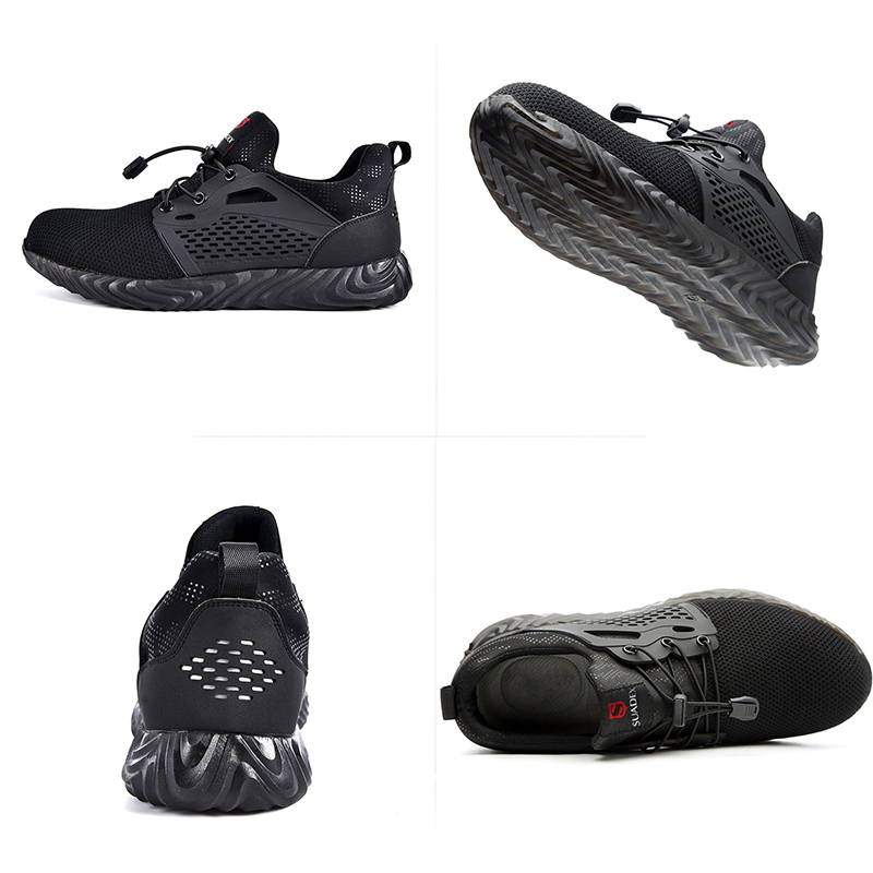 Jackshibo Breathable Safety Work Shoes For Men Male Anti-smashing Steel Toe Working Boots Indestructible Safety Shoes Sneakers 4