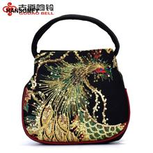 Hot Selling Ethnic Embroidery Bag Embroidered Bag Peacock Embroidery Mini Womens Handbag Free Shipping luxury handbags