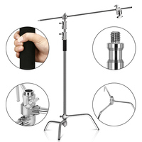 100% Metal 8.53ft/2.6m C stand With Boom Arm Professional Photography Light Stand For Photo Studio