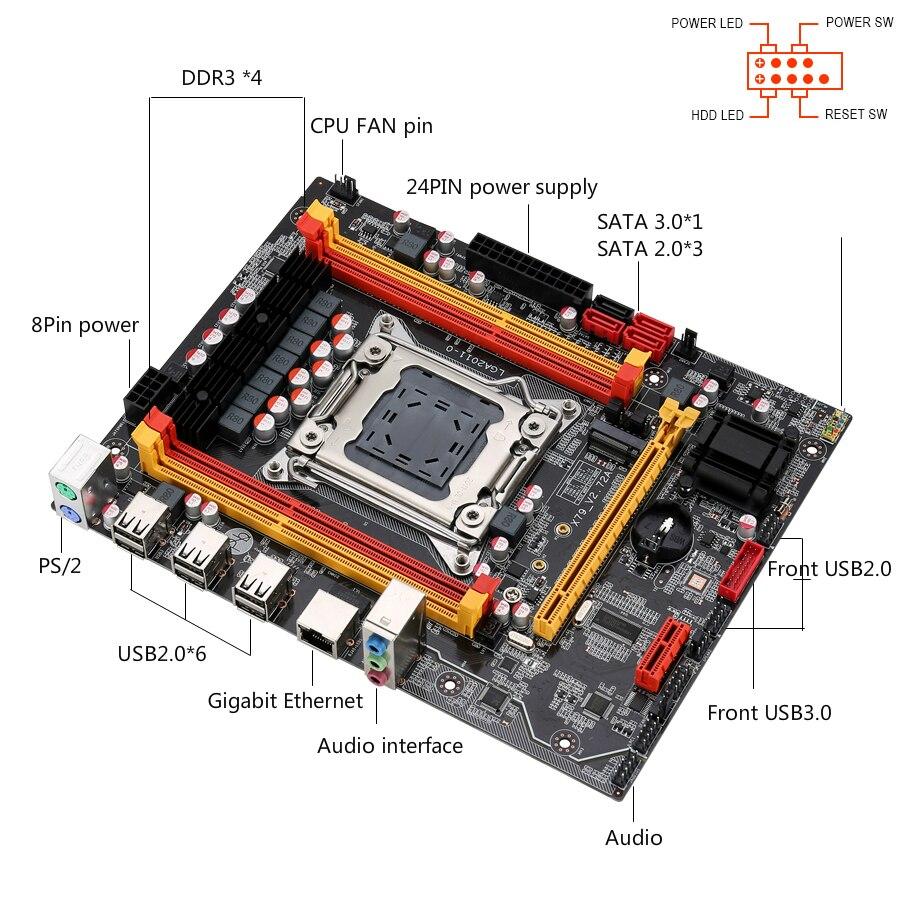 Kllisre X79 chipset motherboard combo kit set Xeon E5 2640 LGA 2011 4Pcs x 4GB= 16GB 1333 DDR3 ECC REG memory 6