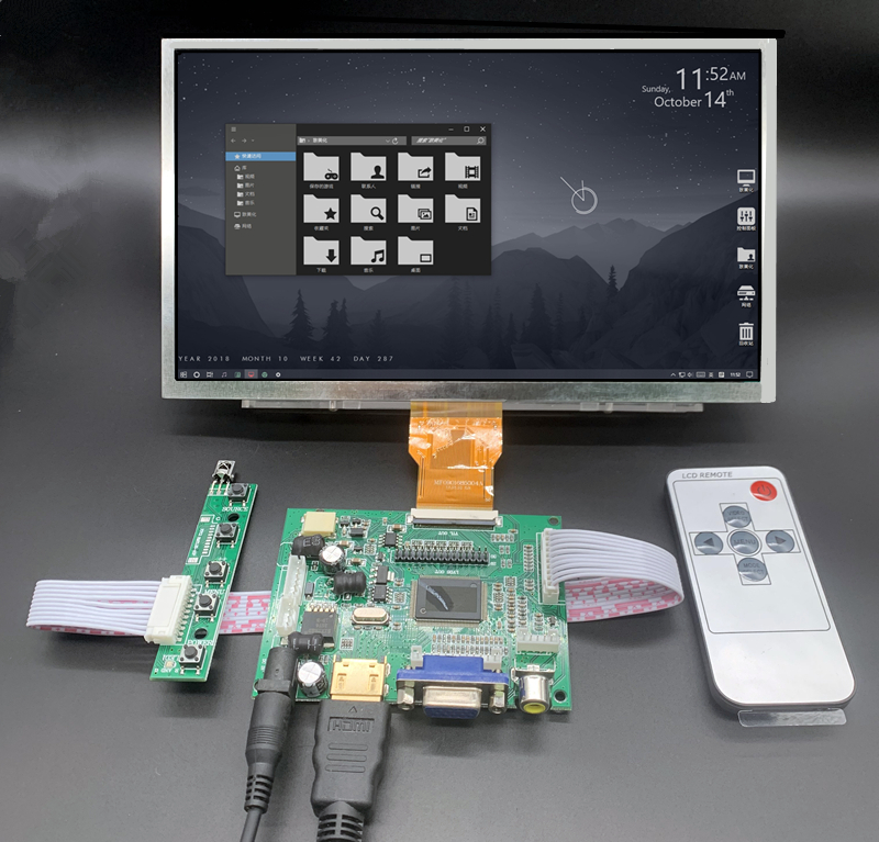 9 inch 1024*600 HDMI Screen LCD Display with Driver <font><b>Board</b></font> Monitor for Raspberry <font><b>Pi</b></font> B + 2 <font><b>3</b></font> Banana/<font><b>Orange</b></font> <font><b>Pi</b></font> Mini computer image