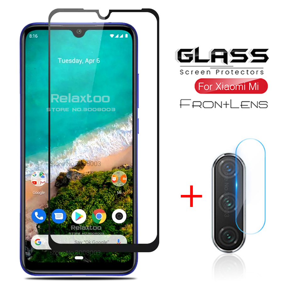 2-in-1 glass on camera protector for xiaomi mi a3 display protective glass for xiomi xiaomi mia3 mia 3 mi 3a lens film cover(China)