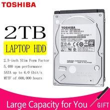 TOSHIBA – disque dur HDD de 2 to pour ordinateur portable, SATA III de 2.5 pouces, 9.5mm d'épaisseur, 128 mo, 6.0 Gb/s, 5400 RPM