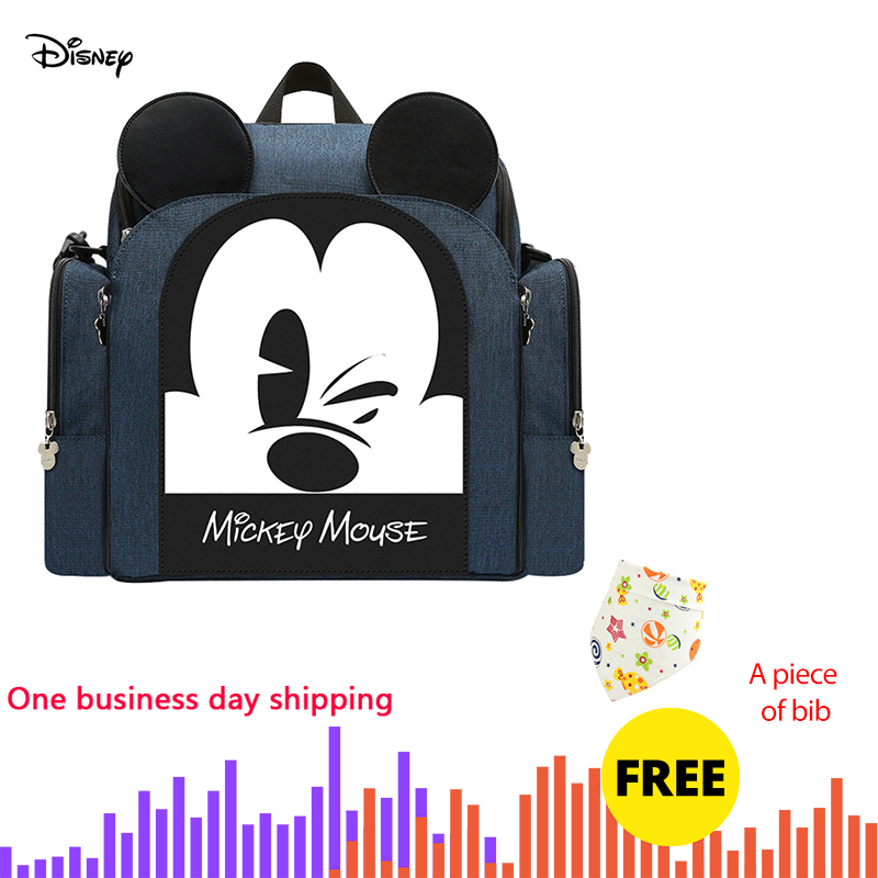 Disney Diaper Bag Backpack Baby Bags For Mom Mickey Minnie Wet Bag Fashion Mummy Maternity Diaper Organizer Dinner Chair Bag