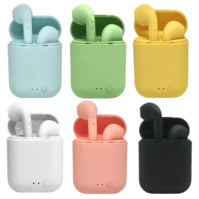 i7Mini TWS Wireless Earphones Bluetooth 5.0 Earphone Matte Earbuds Charging Box Headset Wireless Headphones for xiaomi iphone 6