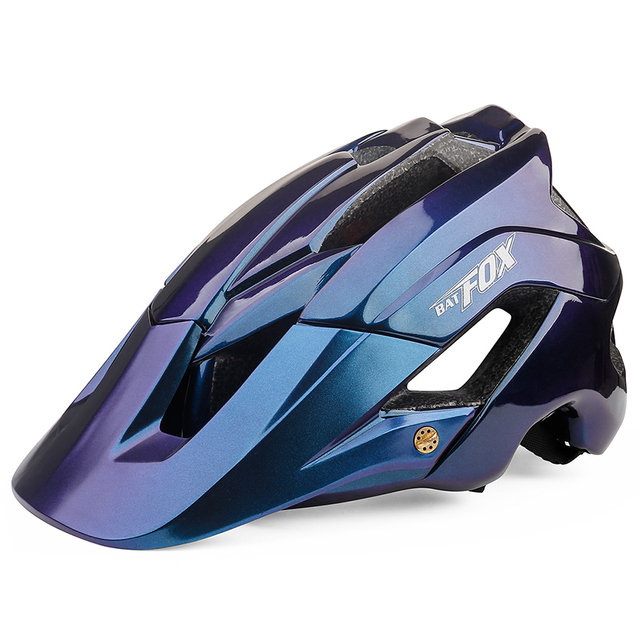 Batfox capacete de bicicleta estrada mountain ciclismo capacetes integralmente moldado ce mtb com viseira de sol das mulheres dos homens ultraleve capacete da bicicleta 1