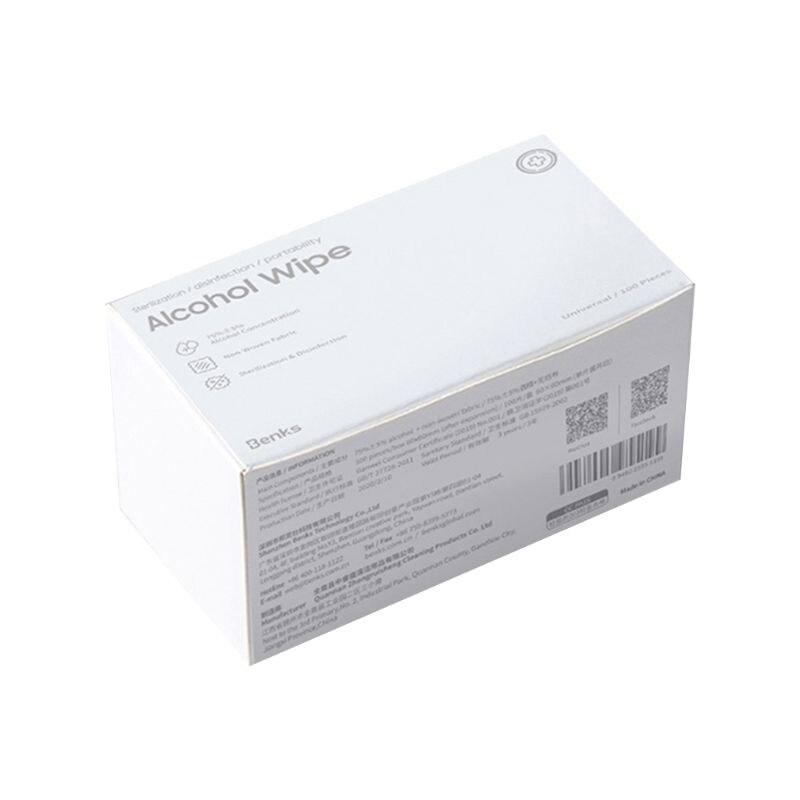 100Pcs/Box Portable Alcohol Prep Pads Disposable Antibacterial  Sterile D T4MB