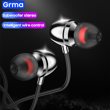 In-Ear Earphone Xiaomi Redmi Headset Mic-Control-Earbuds HUAWEI Heavy-Bass-Stereo GRMA