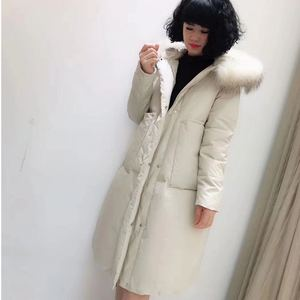 Image 5 - Plus Size 6XL 2020 Winter Women Loose Thick Warm Jacket Female Faux Fur Collar Hooded Down Cotton Coat Parkas Outwear
