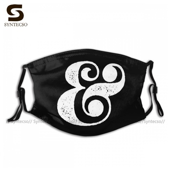 Polyester Funny Ampersand Poster Black Mouth Face Mask Breathe Easy Fast Delivery Unisex Bike Facial Mask With Filter