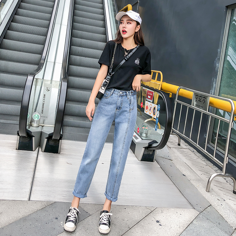 Ff999 2019 New Autumn Winter Women Fashion Casual Denim Pants High Waist Jeans Womens Jeans