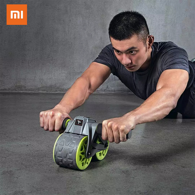 Xiaomi No.7 Intelligent Counting Automatic Rebound Abdominal Wheel Muscle Exercise Gym Roller Fitness Home Intelligent Counting