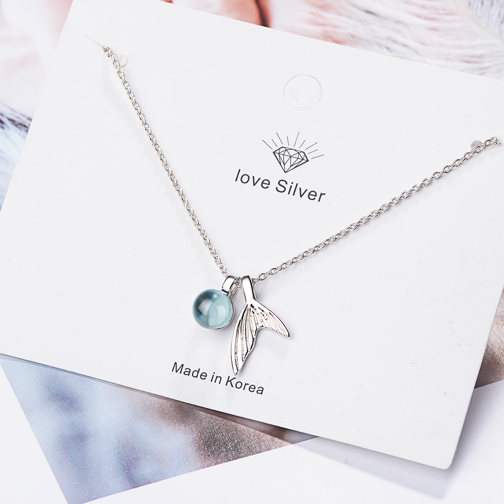 Jewelry Woman 2019 For Women Necklace Halo Silver 925 Necklace Moonstone Crystal Gemstone Light Pendant Korean Style Necklaces