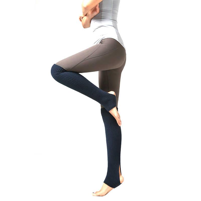 1 par de calentadores de piernas para mujeres y niñas calcetines largos medias sin pies invierno otoño danza Ballet stock