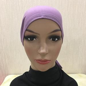 Image 3 - Cotton Under Scarf Hijab Inner Hat Women Muslim Bandana Ninja Beanie Bone Arab Bonnet Hats Cap Bandage Beanies Skullies Muslim