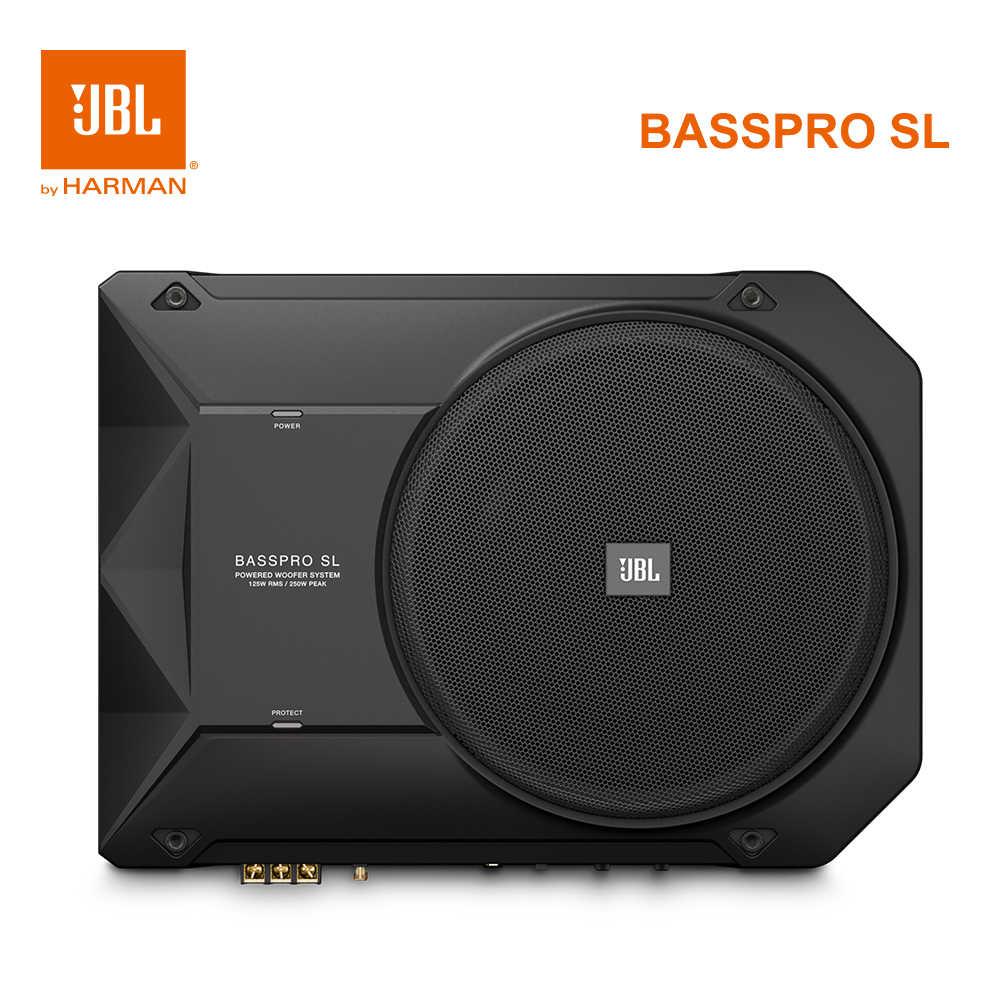 Harman JBL Basspro SL Amplificatore Subwoofer Auto Built in Ad Alta Potenza  e di Livello Più Basso Hifi Audio Auto Sottile 125W 8