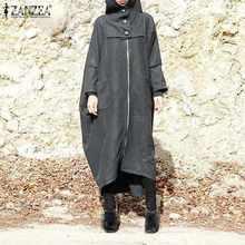 Женская толстовка с капюшоном zanzea 2021 повседневные пальто