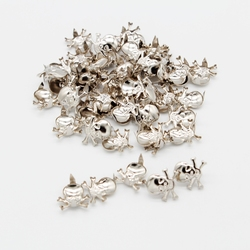 50Pcs Gothic Skull Metal Rivets Claw Leathercraft Studs for Biker Rider Bags Clothes Hats Leather Decor