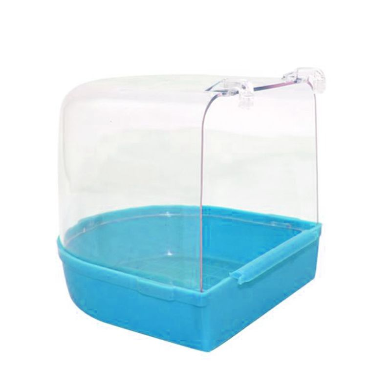 Out Suspension Caged Bird Bath Multi Cage Covered Parrot Bathing Tub For Small