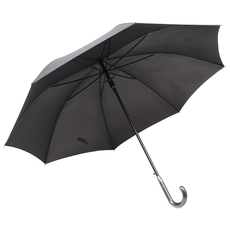 Men's, Black 27-Inch Umbrella Long Handle Outdoor Automatic Double Business Windproof Long Umbrella Customizable Creative Logo A