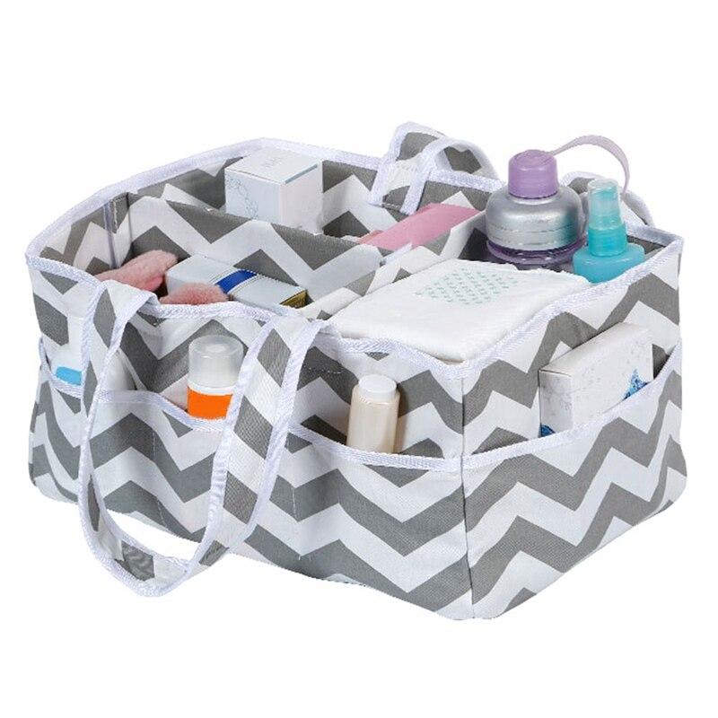 33*23*18 Cm Cotton Stripes Foldable Storage Bag Maternal And Child Supplies Baby Diaper Storage Bag Organizer