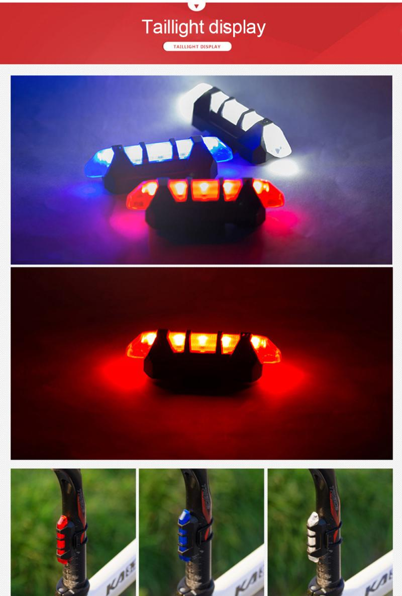 Bicycle Light  LED Safety Warning Light Shoulder Clamp Red And Blue Strobe Shoulder Lights Mountain Bike Rear Tail Warning Light