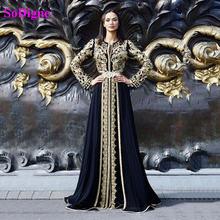 Soworthy марокканское вечернее платье 2021 Золотая аппликация