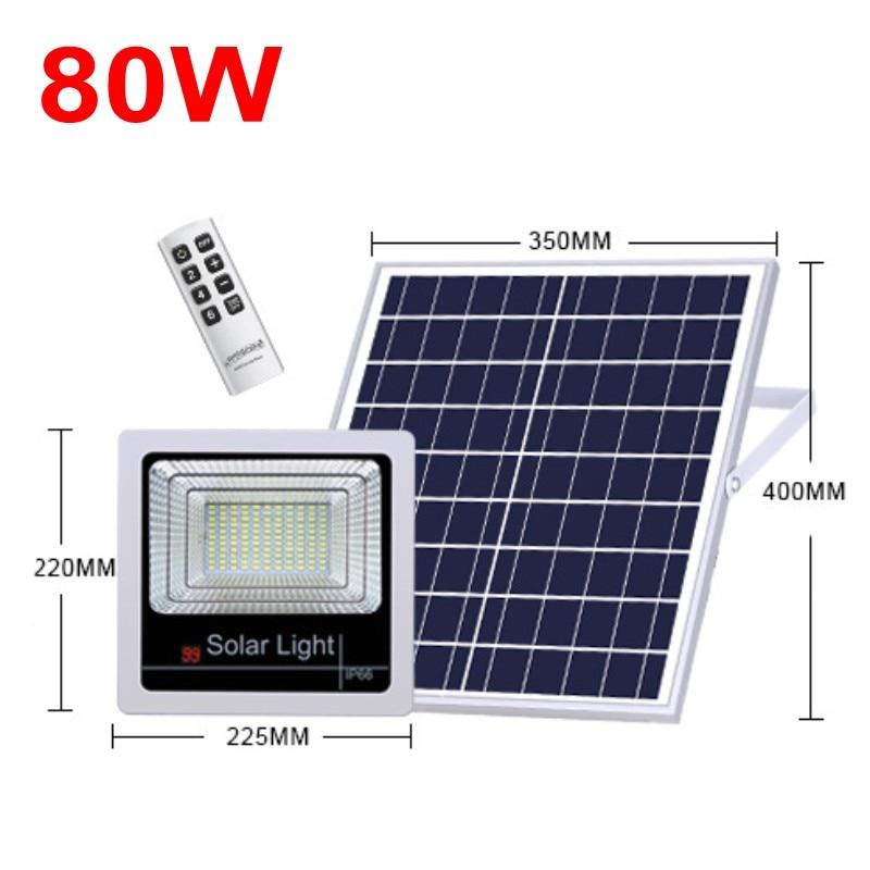 1pcs Solar Flood Light Outdoor Garden Security Wall Solar Powered LED Floodlight 120W 100W 80W 60W 40W Remote Controller