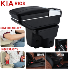 For Kia rio 3 Armrest Box Universal Car Central Storage cup holder ashtray modification accessories