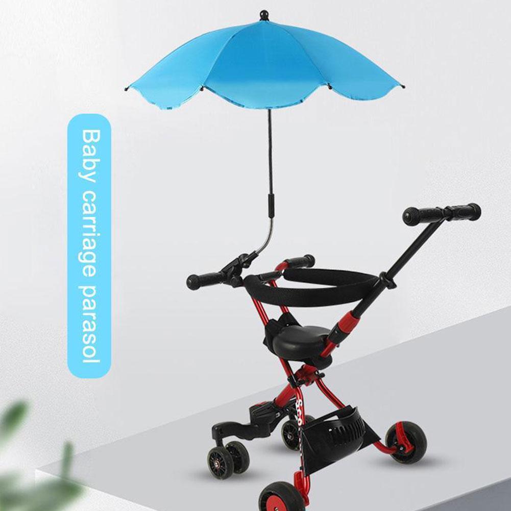 Mult-color Adjustable Stroller Umbrella Rain UV Protection Baby Umbrellas Anti-Sai Pram Tool For Strollers Sun Parasol Shad W3K3
